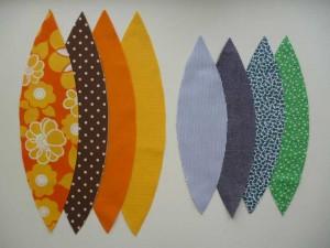 Stofbolde udklip i forskellige farver